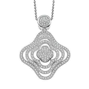 Orphelia Silver 925 Chain With Pendant Zirconium  ZH-7247