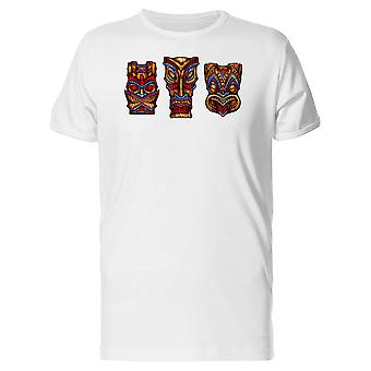 Set Of Tiki God Statues Tee Men's -Image by Shutterstock