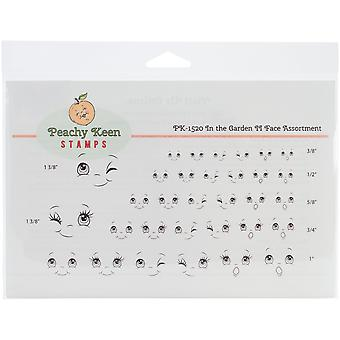 Peachy Keen Stamps Clear Face Assortment 32/Pkg-In The Garden II
