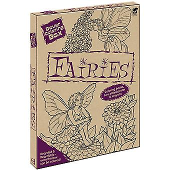 Dover Coloring Box Kit-Fairies