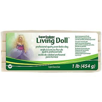 Super Sculpey Living Doll Clay 1lb-Light