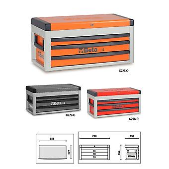 Beta C22 S-G Portable Tool Chest With Three Drawers