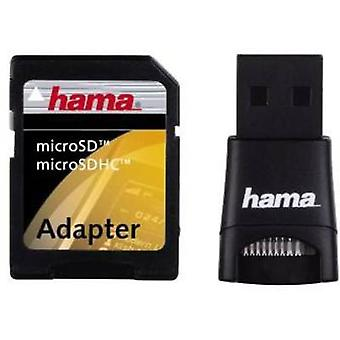 External memory card reader USB 2.0 Hama 91047 Black