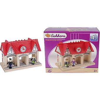 Eichhorn Wooden train set Station with sound effects 100001514