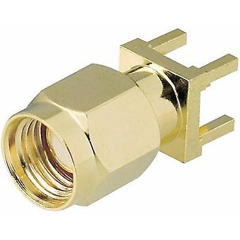 SMA reverse polarity connector Plug, vertical mount 50 Ω BKL Electronic 0419021 1 pc(s)