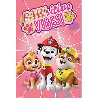 Pata de patrulla Pawsitive Vibes cartel Maxi