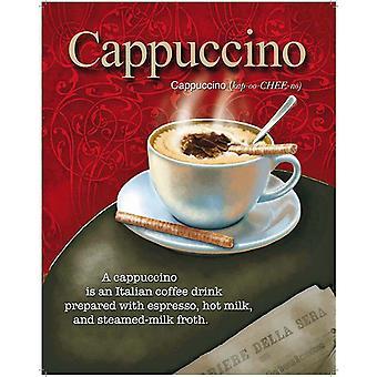 Cappuccino stalen muur ondertekenen van 300 X 400 Mm