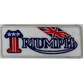 Triumph White Landscape Sew-On Embroidered Patch