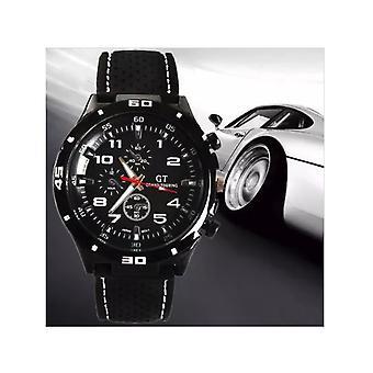 Men Analogue Sports GT Watch Black White Orange
