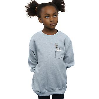 Looney Tunes Girls Bugs Bunny Faux Pocket Sweatshirt