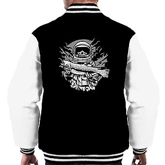 Astronaut Fishing Men's Varsity Jacket