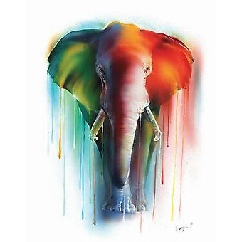 Water colors elephant Miniprint small format