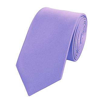 Knytte slipset slips slips 6cm lilla lilla fra lys fiolett uni Fabio Farini