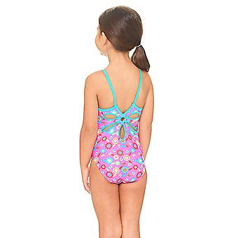 Zoggs Flora Yaroomba Floral Swimsuit in Pink / Multi Colour - Chlorine Proof Elastomax Fabric