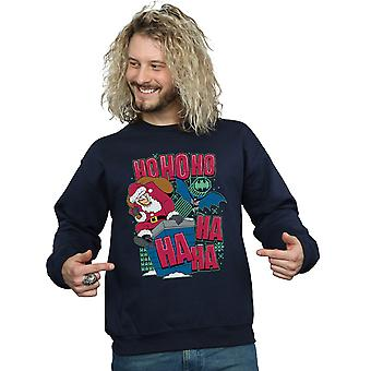 DC Comics Men's Batman And Joker Ha Ha Ha Ho Ho Ho Sweatshirt