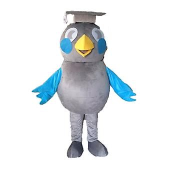 mascot SPOTSOUND of gray and Blue Bird. mascot SPOTSOUND degree