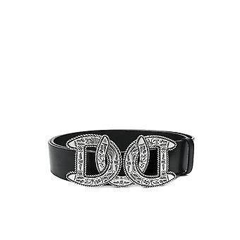 DSQUARED2 BLACK WESTERN DD BUCKLE BELT