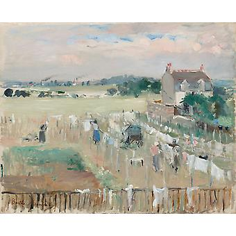 Hanging the Laundry out to Dry, Berthe Morisot, 50x40cm