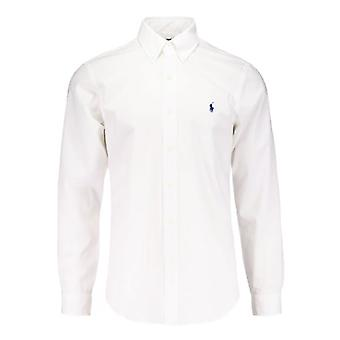 Ralph Lauren Polo Shirt White Poplin Classic Fit