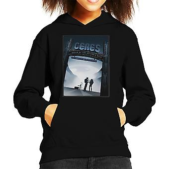NASA Ceres Interplanetary Travel Poster Kid's Hooded Sweatshirt
