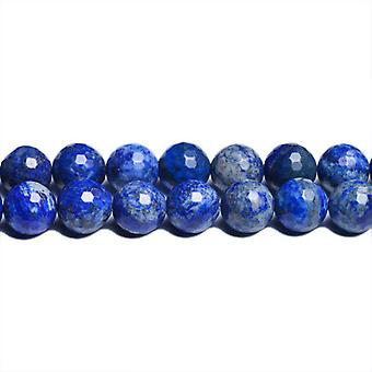Strand 62+ Blue Denim Lapis Lazuli 6mm Dyed Faceted Round Beads CB31095-2