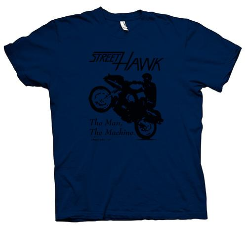 Herr T-shirt-gatan Hawk - cykel - Crime Fighter