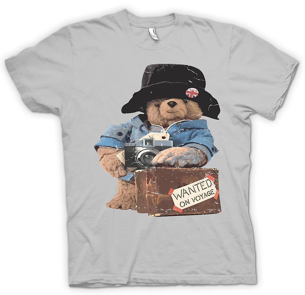 Mens T-shirt - Paddington Bear - Wanted On Voyage