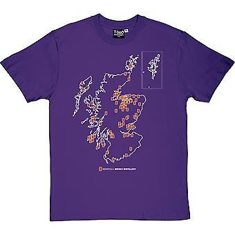 Scottish Whisky Map Men's T-Shirt