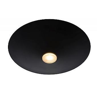 Lucide Troja moderne runde stål sort Flush Loftlys