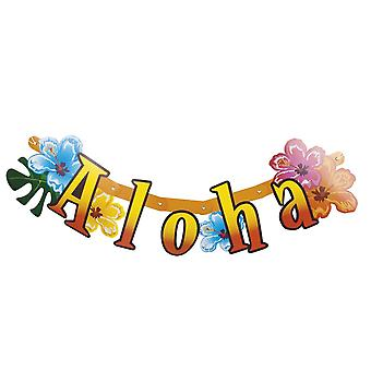 83cm papier Aloha hawaïen banderoles Garland Party Decoration