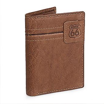 Genuine leather wallet Route 66 8 compartments R40218