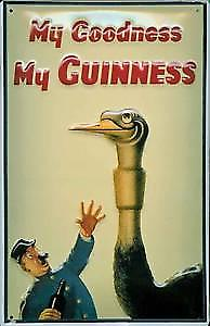 Guinness Ostrich Embossed Metal Sign