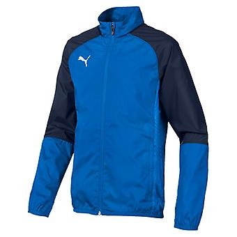 PUMA CUP sideline WovenJKT CoreJr children woven jacket electric Blau lemonade Peacoat