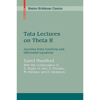 Tata palestras sobre funções do theta Theta II Jacobian e equações diferenciais por Mumford & David
