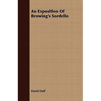 An Exposition Of Browings Sordello by Duff & David