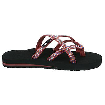 Teva Womens Olowahu Criss Cross Summer Sliders Sandals