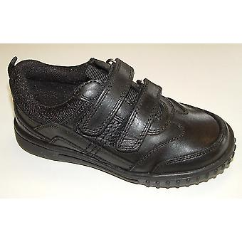 Hush Puppies Boys Lionfish School Shoes Black F Fitting