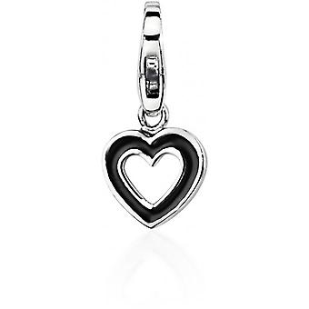 Charm stone Lawson JC99A199 - Charm pendant heart black woman