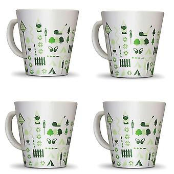 OLPRO Bewdley Melamine Mug Pack of 4 Outdoor Tableware Dishwasher safe