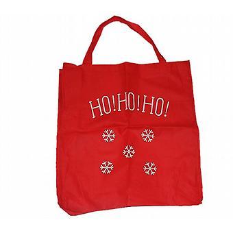 Christmas Snowflake Design Shopping Gift Bags 53cm X 55cm Ho Ho Ho Pack of 1 (2047)