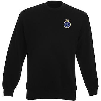 HMS Smiter Embroidered logo - Official Royal Navy Heavyweight Sweatshirt