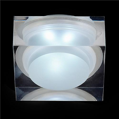 Endon EL-IP-7000 Recessed Led Bathroom Shower Downlight With Square Acrylic Glass