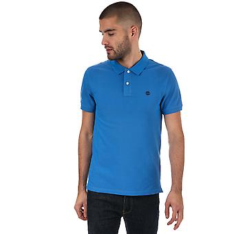 Mens Timberland Millers River Polo Shirt In Blue
