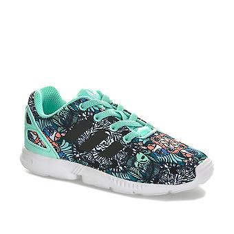 Infant Girls adidas Originals Zx Flux Trainers In Mint- Sewn In Elasticated