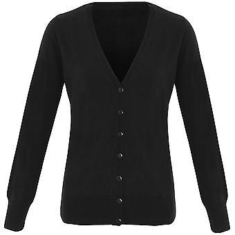 Premier Womens Essential Acrylic V Neck Button Down Cardigan
