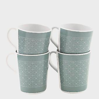 New Outwell Blossom 4 Mugs Set Camping Cooking Eating Green