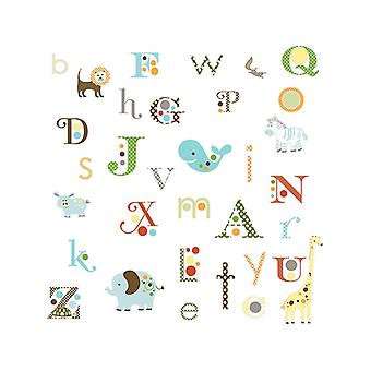 Room Mates Animal Alphabet Wall Stickers