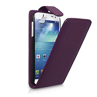 YouSave Samsung Galaxy S4 Leather Effect Flip Case Purple