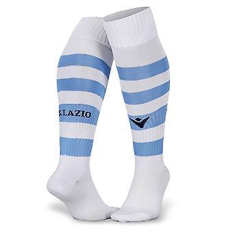 2019-2020 Lazio Home Macron Socks (Blanc) - Enfants