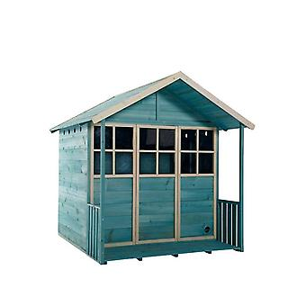 Plum Deckhouse træ Playhouse Teal